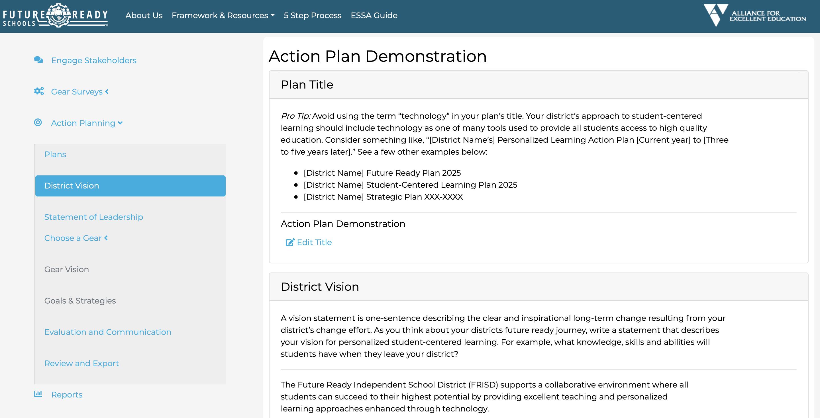 action plan 2